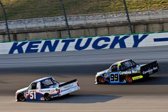 Brandon Jones, Kyle Busch Motorsports, Toyota Tundra SoleusAir/Menards and Ben Rhodes, ThorSport Racing, Ford F-150 Carolina Nut
