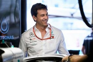 Toto Wolff, Executive Director (Business), Mercedes AMG in the garage