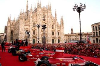 Piazza Duomo with Ferrari fans