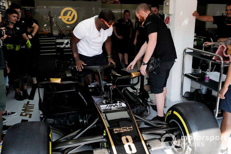 ASAP Ferg, American rapper in the Haas F1 Team VF-19