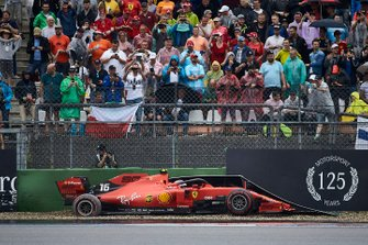Charles Leclerc, Ferrari SF90, crashes out