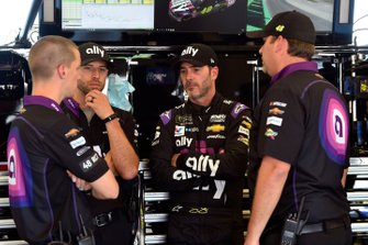 Jimmie Johnson, Hendrick Motorsports, Chevrolet Camaro Ally and Kevin Meendering