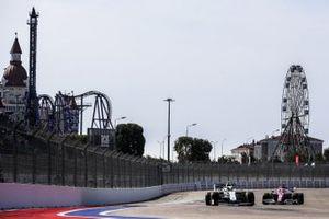 Nicholas Latifi, Williams FW43, Sergio Perez, Racing Point RP20