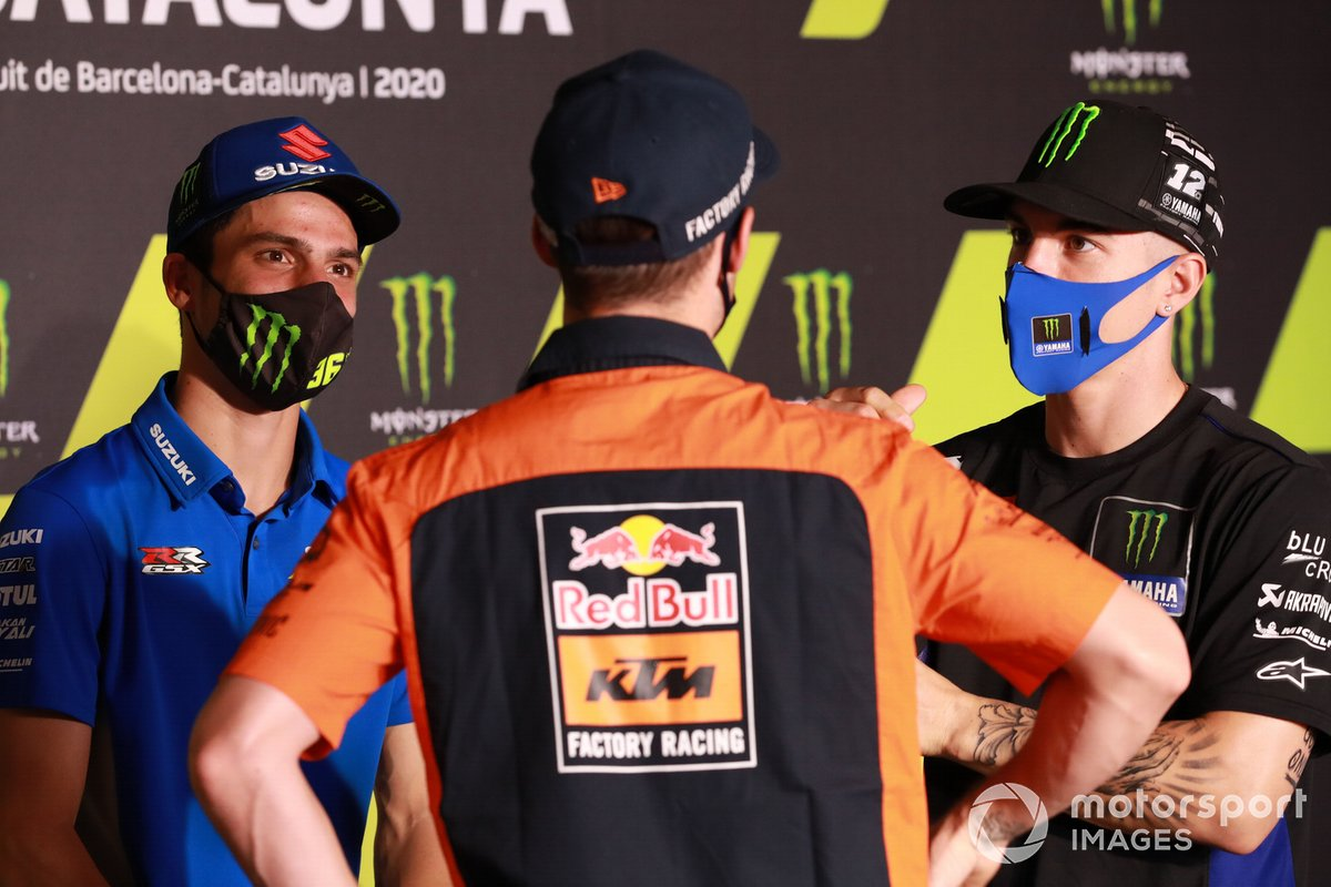 Joan Mir, Team Suzuki MotoGP Pol Espargaro, Red Bull KTM Factory Racing Maverick Viñales, Yamaha Factory Racing