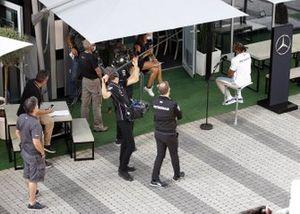 Lewis Hamilton, Mercedes-AMG F1 speaks to the media