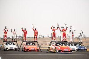 Pódio da Porsche Cup Endurance