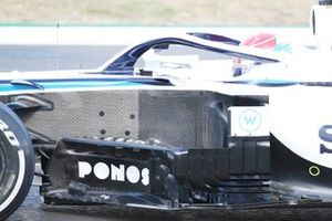 Williams FW43 detalle de los sidepods