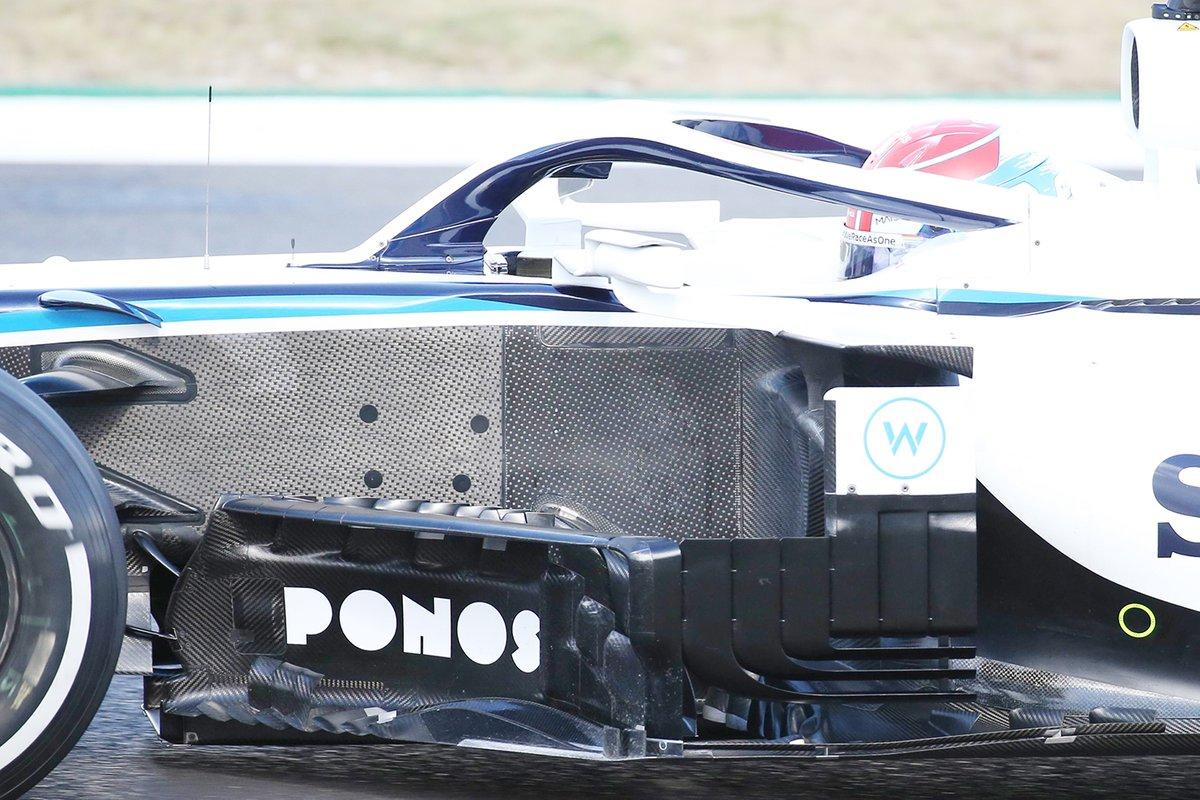 Williams FW43: Windabweiser