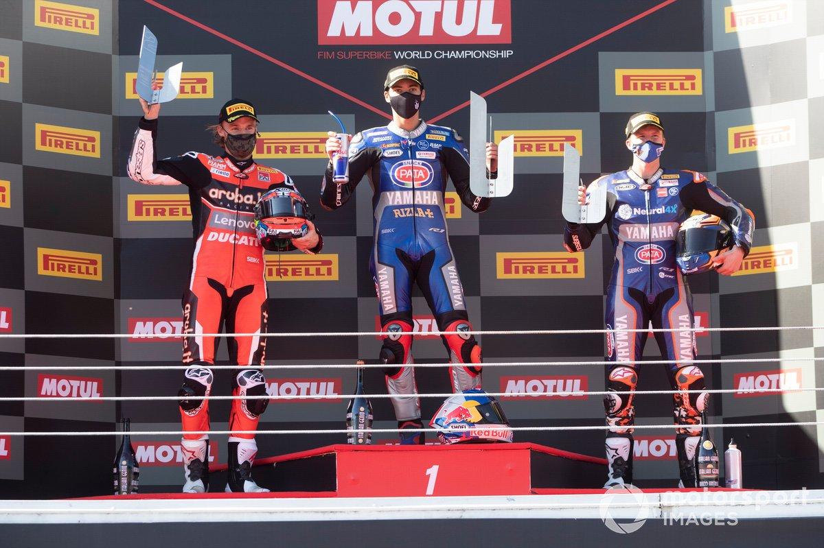 Chaz Davies, ARUBA.IT Racing Ducati, Toprak Razgatlioglu, Pata Yamaha, Garrett Gerloff, GRT Yamaha