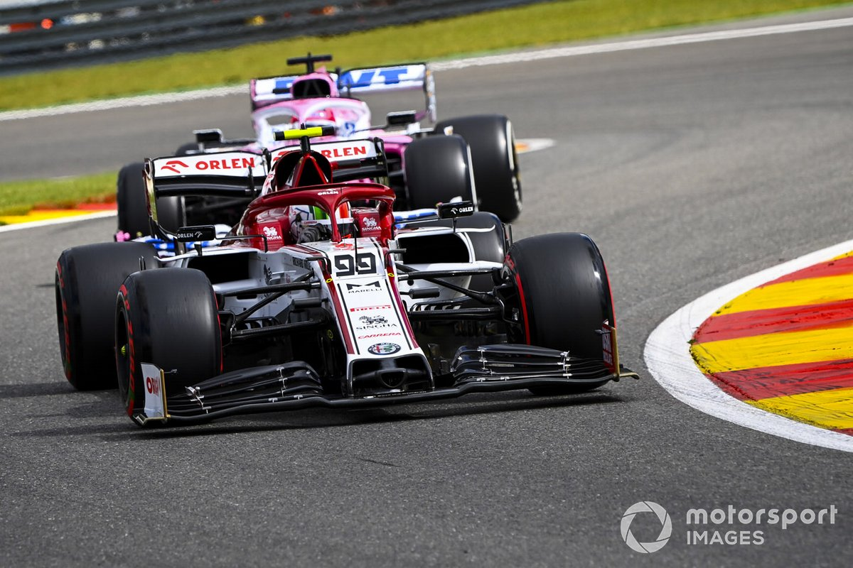 Antonio Giovinazzi, Alfa Romeo Racing C39, Sergio Pérez, Racing Point RP20