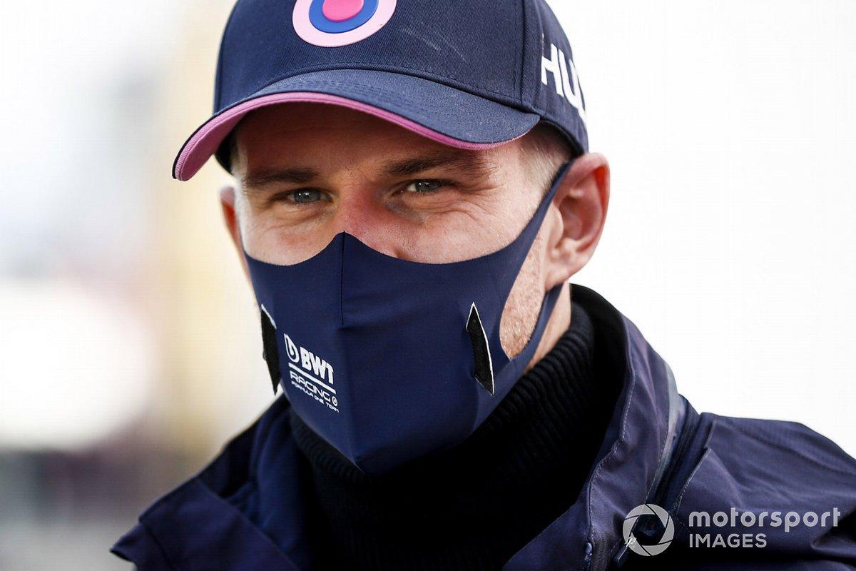 Nico Hulkenberg, Racing Point speaks to the media