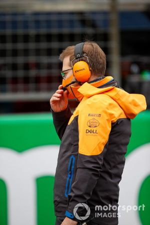 Andreas Seidl, Team Principal, McLaren, on the grid