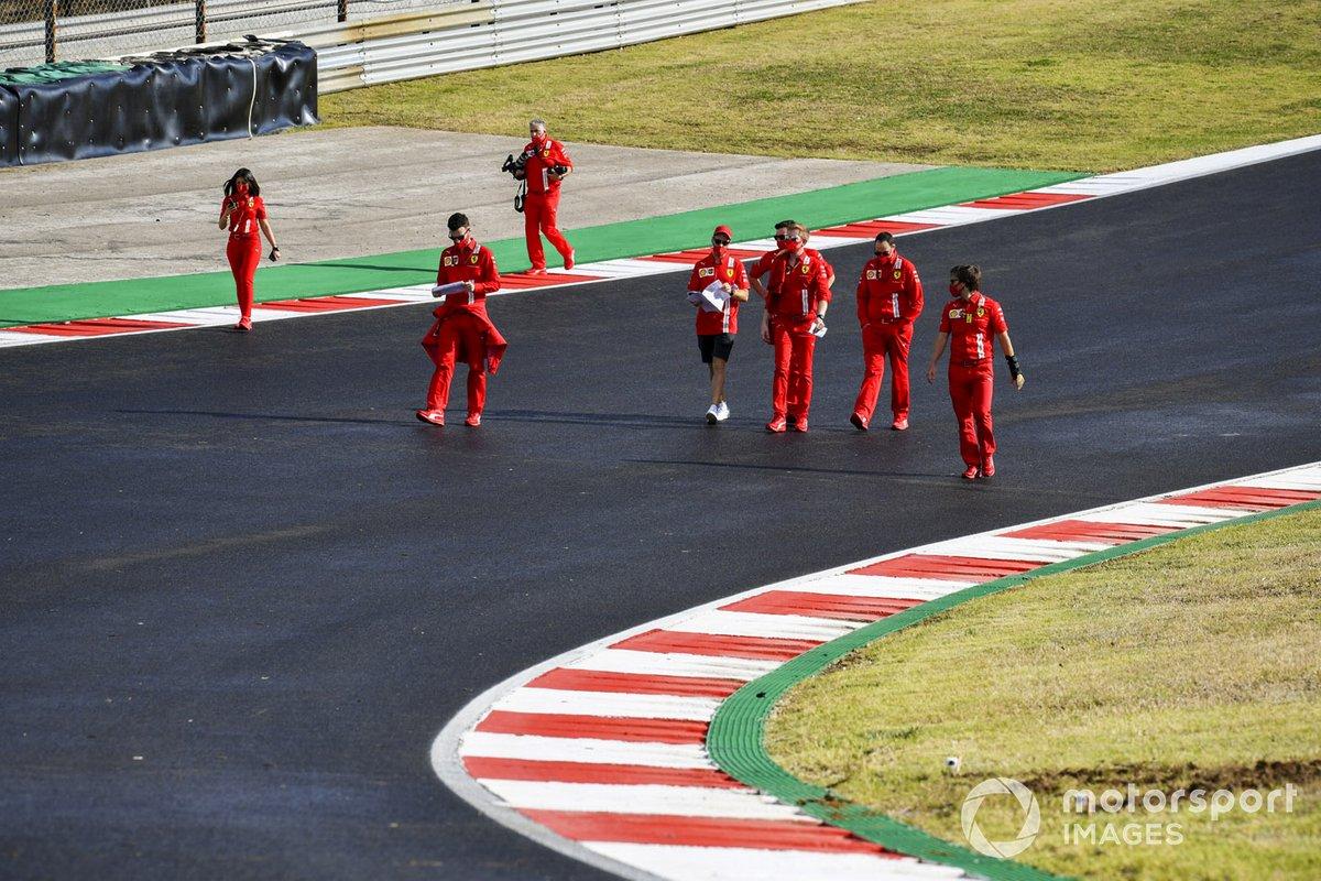 Sebastian Vettel, Ferrari fait son tour de piste