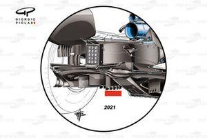 Ferrari SF1000 2021 diffuser