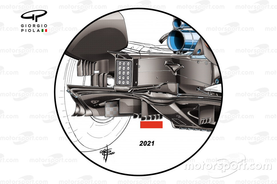 La Ferrari SF1000, con el difusor según normas de 2021