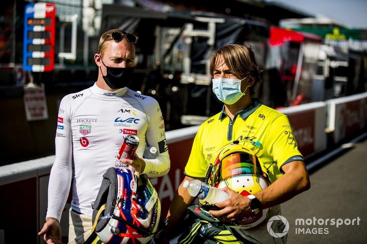 Maxime Martin y Augusto Farfus, Aston Martin Racing