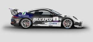 Carro de Cacá Bueno e Marcelo Franco na Porsche Cup