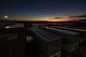 Sunset at the paddock