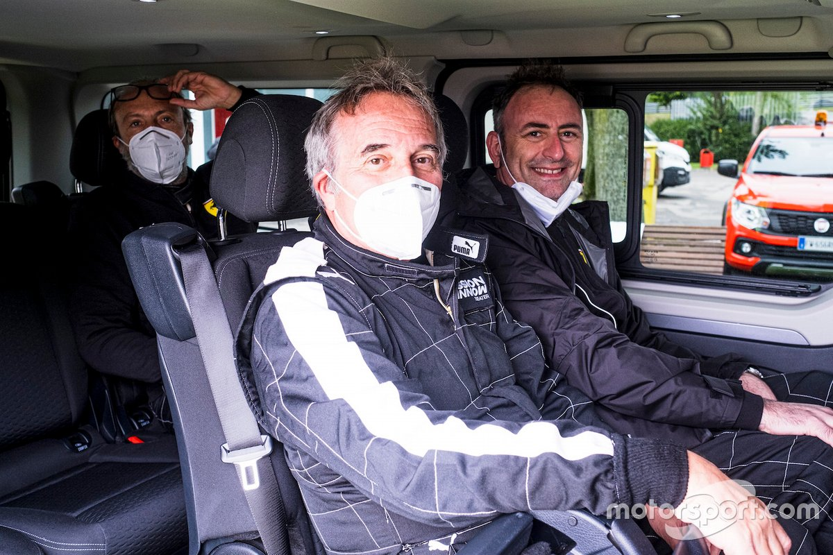 Franco Nugnes, Direttore di Motorsport.com Italia, Roberto Chinchero, giornalista di Motorsport.com Italia e Sky SportF1 e Guido Meda, Sky Sport