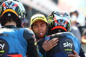 1. Luca Marini, Sky Racing Team VR46, 2. Marco Bezzecchi, Sky Racing Team VR46, 3. Enea Bastianini, Italtrans Racing Team