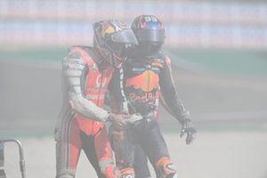 Jack Miller, Pramac Racing and Brad Binder, Red Bull KTM Factory Racing crash