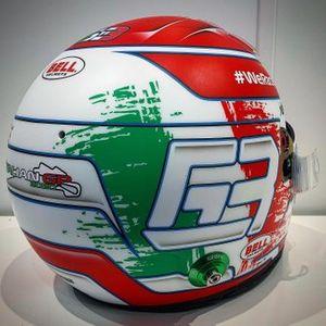 George Russell, capacete para o GP da Itália