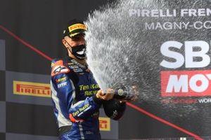 Podium: second place Loris Baz, Ten Kate Racing Yamaha