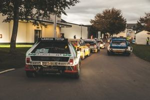 Group B rally cars, including a Lancia Delta S4, Audi Quattro Sport, Audi Quattro and MG Metro 6R4