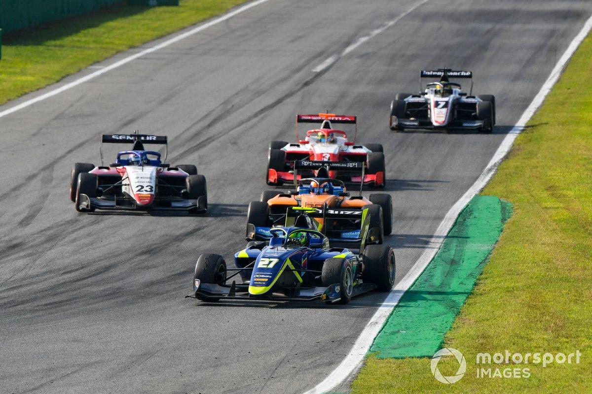 David Schumacher, Carlin, Roman Stanek, Charouz Racing System y Alessio Deledda, Campos Racing