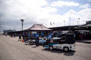 Graham Rahal, Rahal Letterman Lanigan Racing HondaJosef Newgarden, Team Penske Chevrolet, podium
