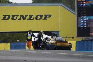 Choque de #72 Hub Auto Racing Porsche 911 RSR - 19 LMGTE Pro, Dries Vanthoor, Alvaro Parente, Maxime Martin
