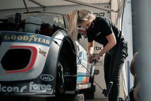 Charley Webster Clark, number two technician, EXCELR8 Motorsport's MINI CHALLENGE team