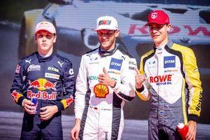 Top 3 after Qualifying, Poles sitter Marco Wittmann, Walkenhorst Motorsport, Liam Lawson, AF Corse, Sheldon van der Linde, ROWE Racing