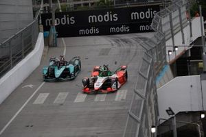Lucas Di Grassi, Audi Sport ABT Schaeffler, Audi e-tron FE07, Mitch Evans, Jaguar Racing, Jaguar I-TYPE 5