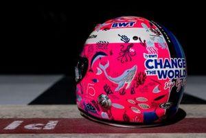 Special helmet of Sebastian Vettel, Aston Martin