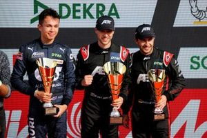 Podium: Race winner Kelvin van der Linde, Abt Sportsline, second place Alex Albon, AF Corse, third place Mike Rockenfeller, Abt Sportsline