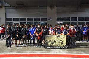 El paddock de MotoGP recuerda al piloto de la European Talent Cup Late Hugo Millán