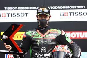 Le poleman Jonathan Rea, Kawasaki Racing Team WorldSBK