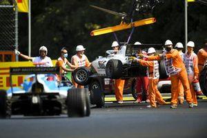 Ido Cohen, Carlin Buzz Racing and Laszlo Toth, Campos Racing crash