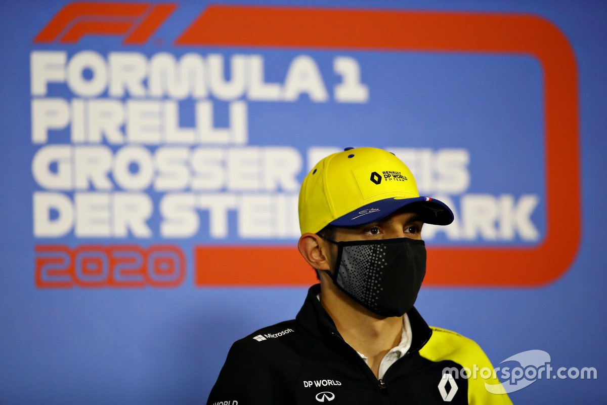 Esteban Ocon, Renault F1 in the press conference