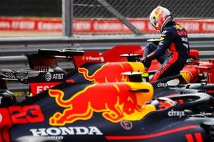 Max Verstappen, Red Bull Racing RB16 in Parc Ferme