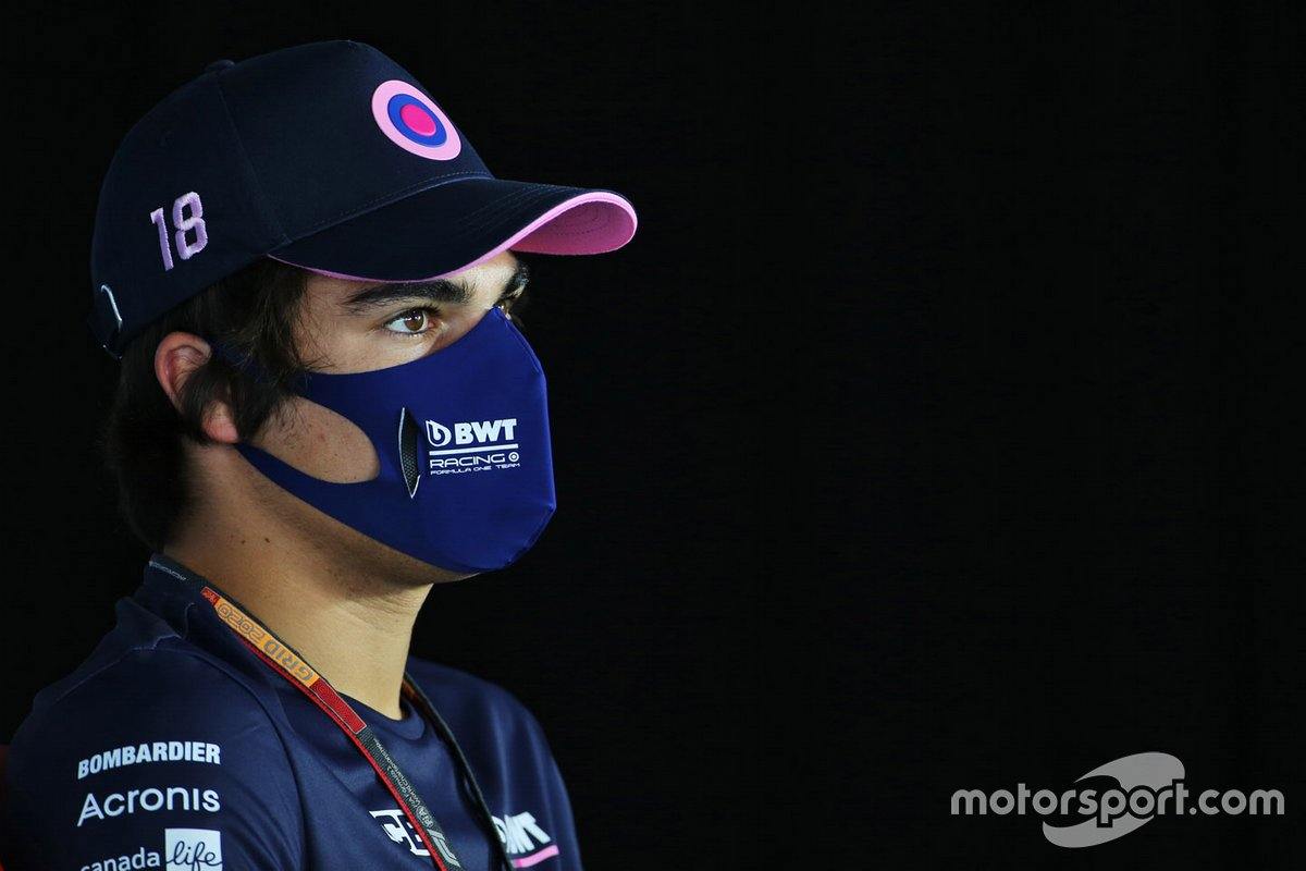 Lance Stroll, Racing Point en la conferencia de prensa