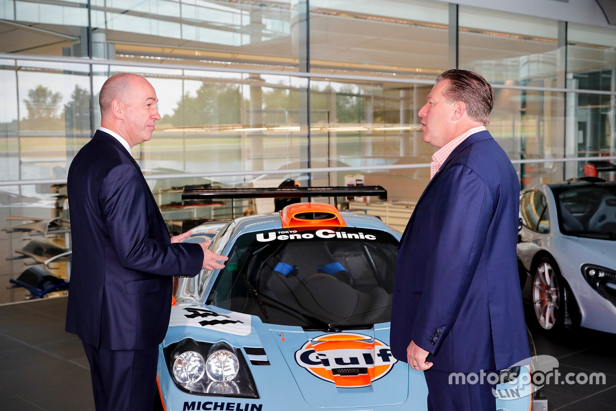 Mike Jones, Gulf Oil International Ltd CEO, Zak Brown, McLaren Racing CEO