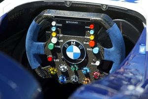 Steering wheel of a Williams BMW FW26