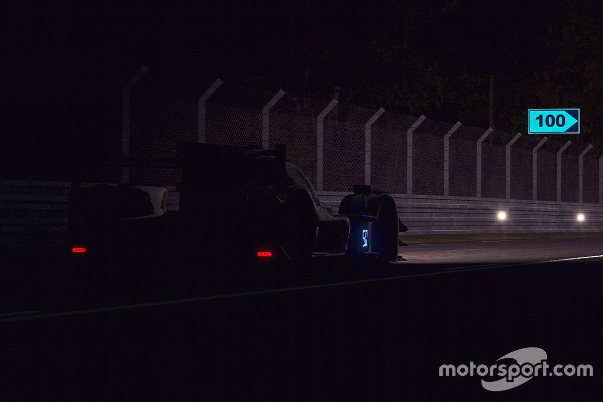 Acciones en pista de noche