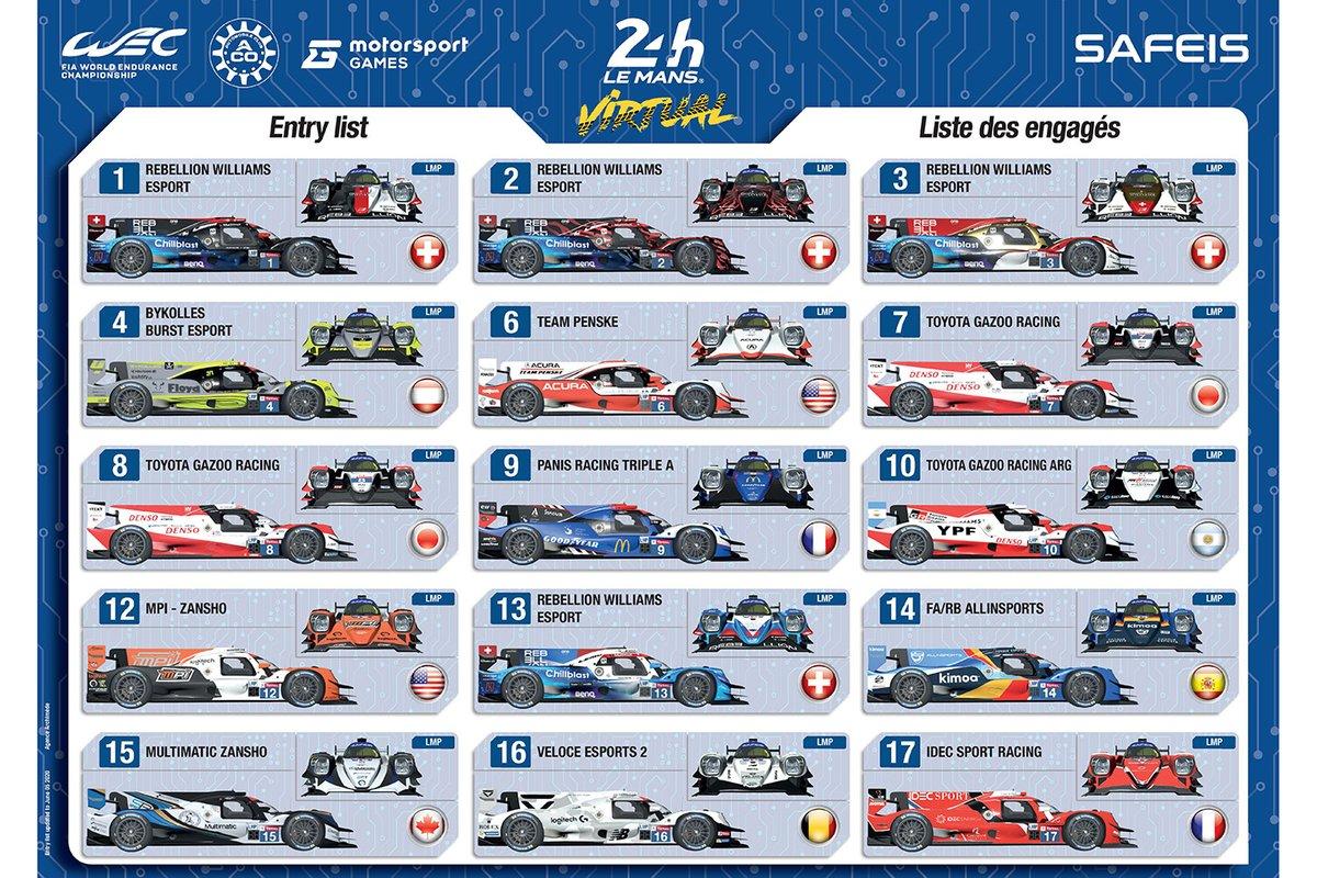 Las decoraciones de los vehículos de las 24h Le Mans virtuales - LMP