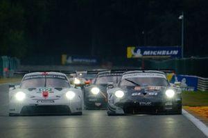 #92 Porsche GT Team Porsche 911 RSR: Michael Christensen, Kevin Estre, #88 Dempsey-Proton Racing Porsche 911 RSR: Gian Luca Giraudi, Ricardo Sanchez, Lucas Legeret