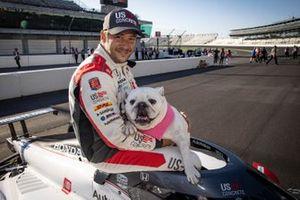Marco Andretti, Andretti Herta with Marco & Curb-Agajanian Honda with his english bulldog Moodie