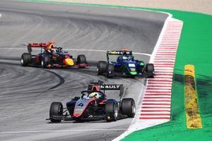 Max Fewtrell, Hitech Grand Prix, Cameron Das, Carlin Buzz Racing et Dennis Hauger, Hitech Grand Prix