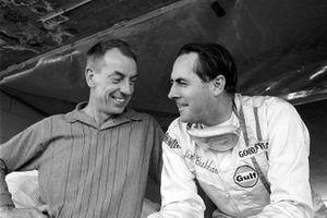 Ron Tauranac, diseñador de Brabham y el dueño del equipo Jack Brabham